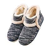 Winter Vintage Boot Slippers Arctic Solid Indoor Dark Blue 10 B(M) US