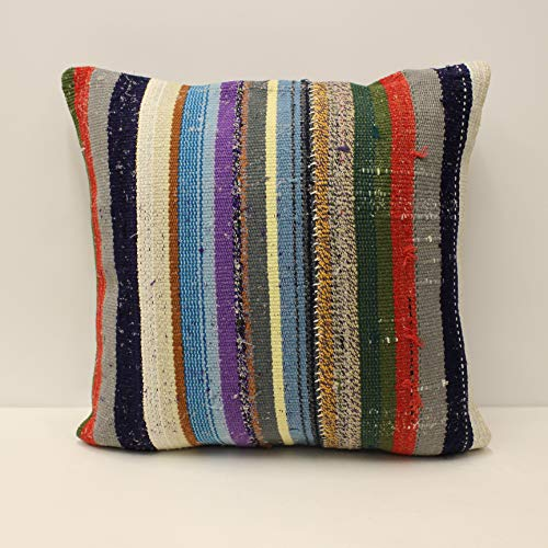 Turkish Pillow 20x20 inch Couch Pillow Kilim Pillow Handmade Pillow Kilim Pillow Turkish Kilim Cushion Cover Vintage Pillow Kilim Rug