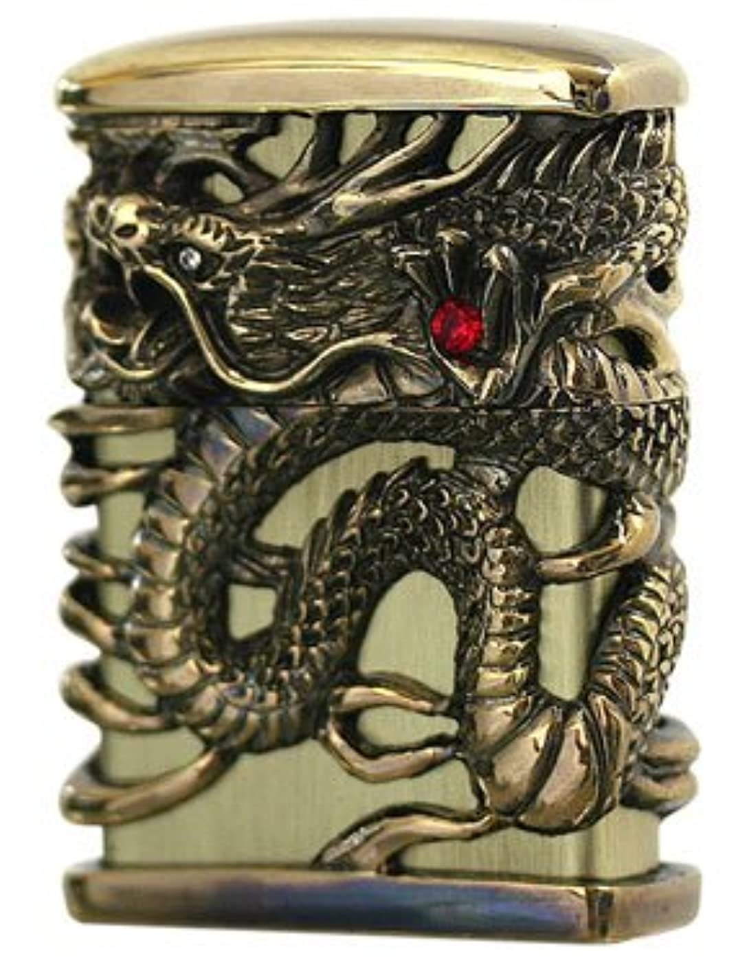 ZIPPO Oil lighter Celestial Dragon Brass Gold Full Metal Jacket Japan Tenryu