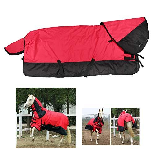 Manta para envolver el vientre de invierno de caballo de polietileno impermeable 600D, manta de invierno de peso pesado impermeable para asistencia de caballo, relleno pesado de 300G,Púrpura,1