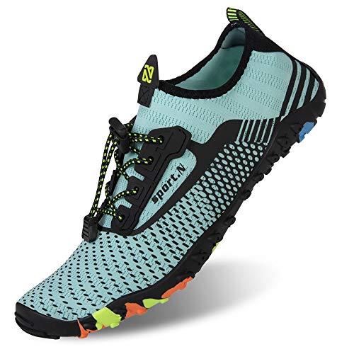 IceUnicorn buty plażowe, damskie i męskie, buty do pływania, buty do wody, na lato, szybkoschnące, buty do surfowania., - Zb244 M niebieski - 42 EU