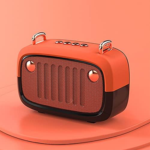 HFDJ Altavoz Bluetooth inalámbrico pequeño Audio Radio Creativo Altavoz pequeño portátil Altavoz estéreo portátil al Aire Libre Adecuado para Viajes, Fiestas