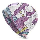 Sombrero Sombrero Mar fantástica Belleza Infantil Tejida de Sirena Beanie Gorro para Hombres para Mujeres Hat Tejer Tejer Sombreros para niños Adultos Impresos en 3D Soft