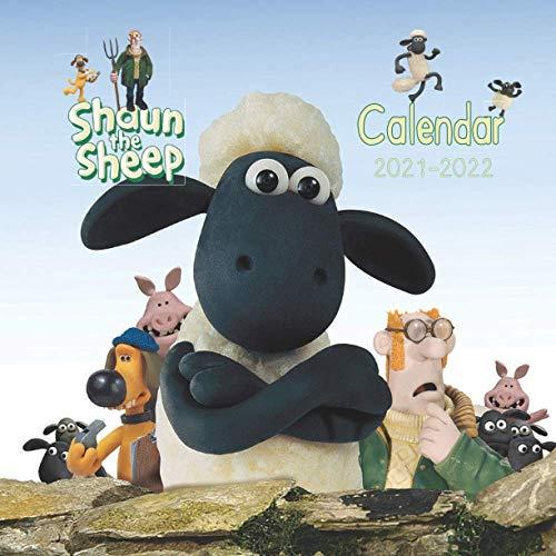 Shaun the sheep Calendar 2021: Book Calendar 2021-2022 With 16 months