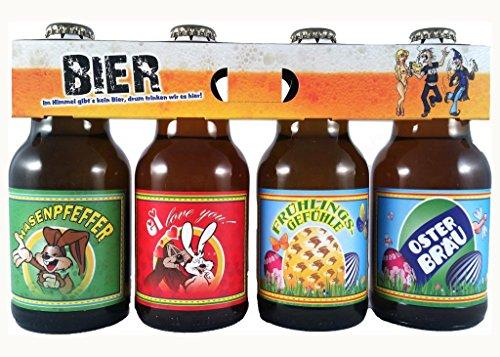 Oster Bier im witzigen Bierschaum Motiv 4er Träger