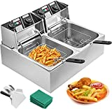 Chaneau Electric Fryer Large With 2 Wells Professional Stainless Steel Fryer (Electric Fryer)