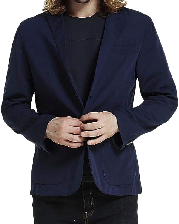 9c5b5742aa92e Tootca Tootca Tootca Men Button Pure color Light Weight Notch Lapel Sport  Coat Jacket 6596a0
