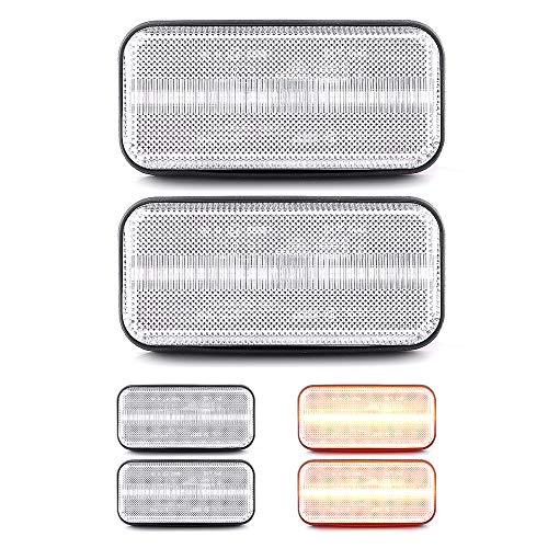 LIGHTDELUX Ersatz für 2 X LED Seitenmarkierungsleuchte Begrenzungsleuchte Umrissleuchte mit E4-Prüfzeichen White Vision Ford Transit MK6 Ford Transit MK7 V-170774