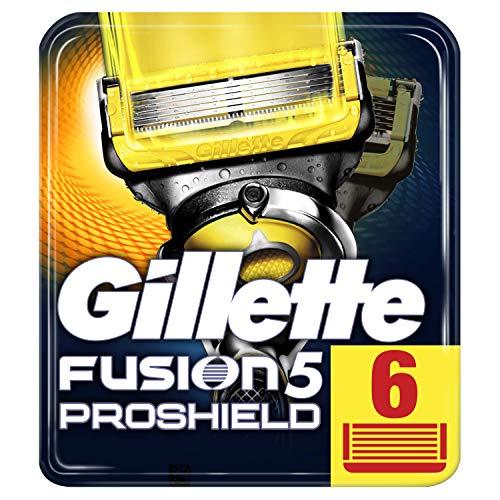 Gillette Fusion 5 ProShield Rasierklingen mit Trimmerklinge für Präzision und Gleitbeschichtung, 6 Ersatzklingen