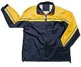Apparel No. 5 Men's 2-Tone Windbreaker Jacket,Large,Navy/Gold