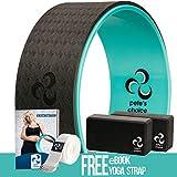 pete's choice Yoga Set for Beginners – Yoga Wheel Kit + 2 Yoga Blocks, Bonus eBook & Free Yoga Strap | Yoga Starter Kit for Beginners | Ideal Yoga Gift