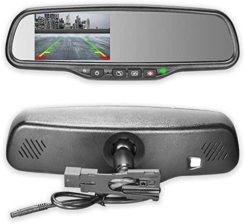 Master Tailgaters OEM Rear View Mirror with 4 3 Auto Adjusting Ultra Bright LCD and OnStar Buttons product image