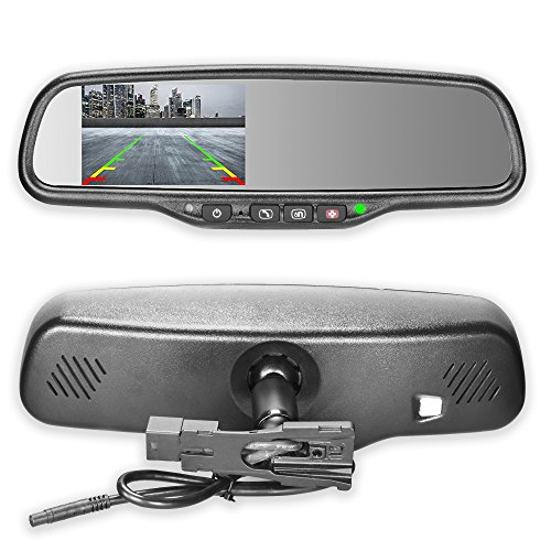 Master Tailgaters OEM Rear View Mirror with 4.3' Auto Adjusting Ultra Bright LCD and OnStar Buttons(for Backup Cameras) - Connects to Your Existing OnStar Wiring