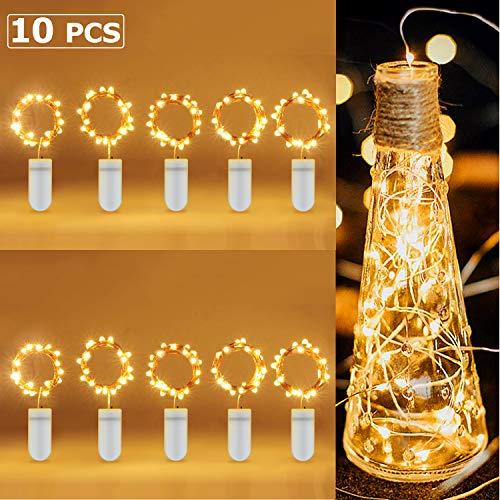 LED Lichterkette Batterie [10 Stück], Yosemy Lichterketten für Zimmer, 6 er 2M und 4 er 1M Micro LED Lichterkette Draht Innen Batteriebetrieben für Party Weihnachten Halloween Hochzeit Dekoration