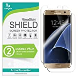 (2-Pack) RinoGear Screen Protector for Samsung Galaxy S7 Edge (Full Body Front/Back) Case Friendly Samsung Galaxy S7 Edge Screen Protector Accessory Full Coverage Clear Film
