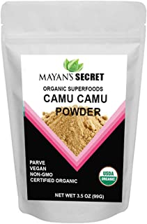 USDA Certified Organic Camu Camu Powder Natural Vegan Vitamin C Powder 3.5 oz