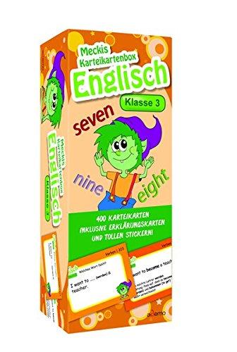 Karteibox Englisch Klasse 3: mit 400 farbigen Karteikarten und tollen Stickern