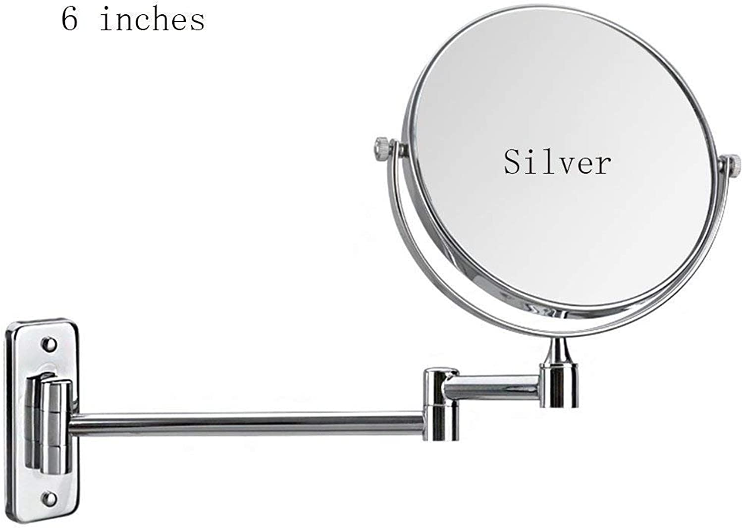 Double Mini Notebook Bathroom Mirror Mirror Mirror Mirror Mirror of European Beauty Wall of Appropriate Folding for Bedroom and Bathroom (Silver color, Size  6 inches)