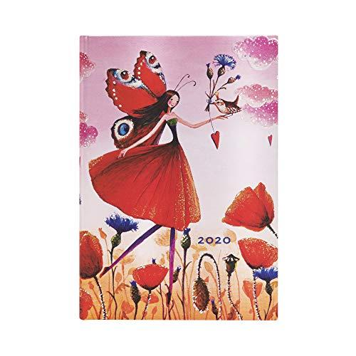 Paperblanks 12-Monatskalender 2020 | Mohnblumenfeld |Horizontal | Mini (140 x 95 mm)