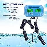 Tester Portatile TDS/PH/Temp Tester Tre-in-Uno Tester PH Tester PH Che rileva la conducibilità PH per la Cucina Acquario Pool Laboratory