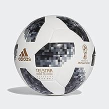 adidas Heren FIFA WM officiële speelbal bal, wit/zwart/zilver metallic, 5