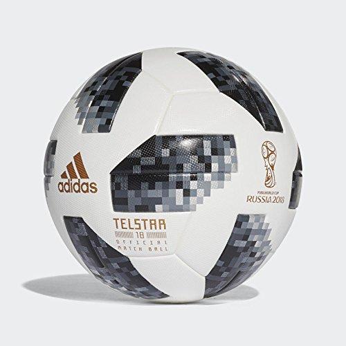 adidas Herren FIFA WM offizieller Spielball Ball, White/Black/Silver Metallic, 5