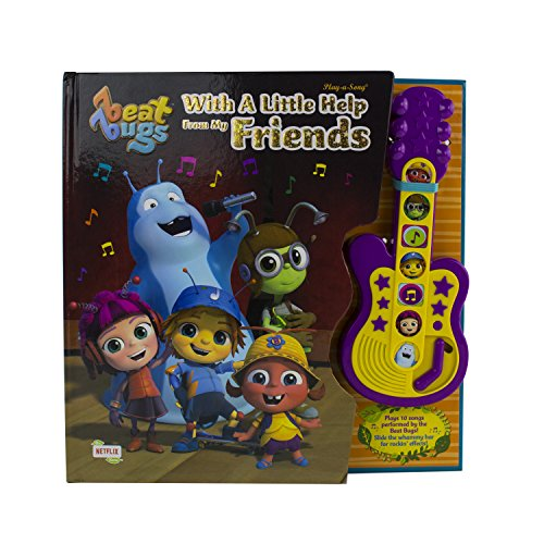 Beat Bugs - With a Little Help From My Friends Board Book Sound Guitar Toy - Play-a-Sound - PI Kids (Play-A-Song)