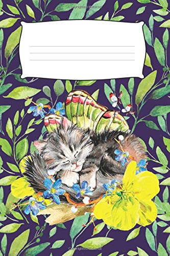 Kitty Sleeping In A Tree: Cute Cat Journals For Women (6 x 9...