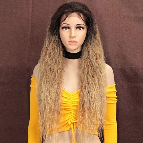 Style Icon Lace Front Perücken Wigs 71cm Lang 13x4 Spitze Curly Synthetische Perücke Kostenlose Trennung hochwertige Perücke Für Frauen Hitzebeständige Fiber