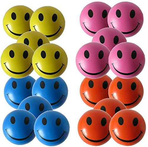 StressCHECK Pelota Anti Estrés- 20 x Bolas Anti-Estrés de Colores Mezclados - Amarilla, Rosa, Azul y Naranja - para ADHD y Autismo