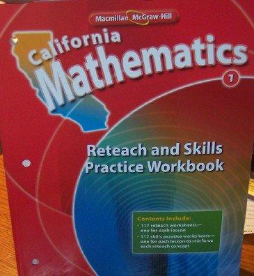 California Mathematics Reteach and Skills Practice Workbook Grade 1