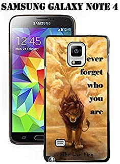 Note 4 Case Samsung Galaxy Note 4 Black Cover TPU Rubber Gel - Never forget who you are - The Lion King