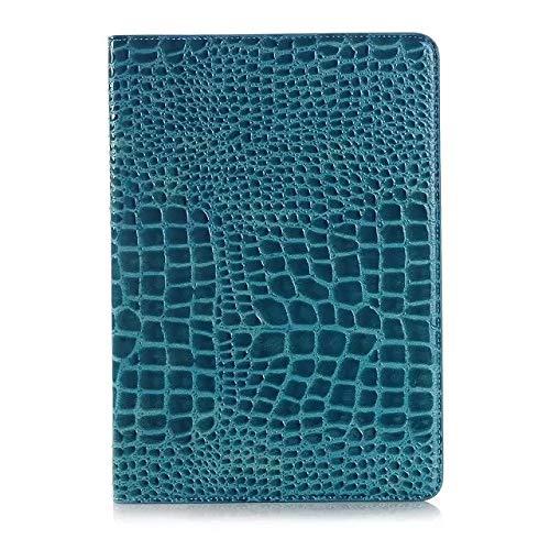 chenyuying Tirón del cocodrilo del Soporte del Cuero Cubierta de la Caja de luz-Peso de la Tableta Compatible con Samsung Galaxy Tab 9.7 A (2015) SM-T550 / T555. (Color : Blue)