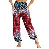 Feytuo Pantalones de Yoga Mujer,Womens Yoga Pantalones Harem Belly Dance Fitness Pantalones De Entrenamiento Muy Suave Mujer Yoga Pantalones Deportivos Harem Pantalón para Danza Yoga Fitness