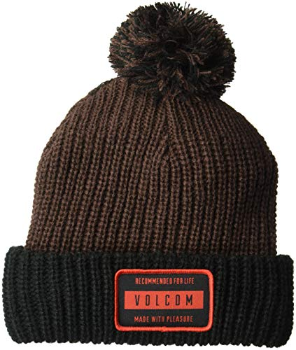 Volcom Herren TTT Fleece Lined Beanie Hut für kaltes Wetter, schwarz/red, Einheitsgröße
