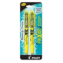 Pilot Erasable Highlighter Chisel Point 2 per Pack Yellow
