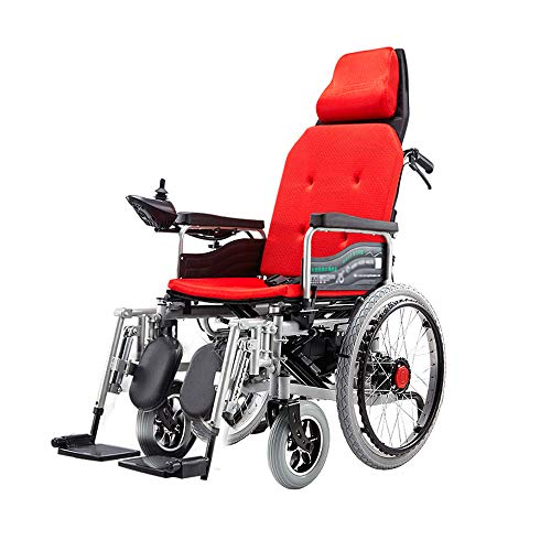 Jiamuxiangsi- Elektrischer Rollstuhl, Rollstuhl für ältere Menschen, Allrad-Rollstuhl, Falten und Liegen, Last 100kg, EPBS-Bremssystem Rollstuhl (Farbe : B)