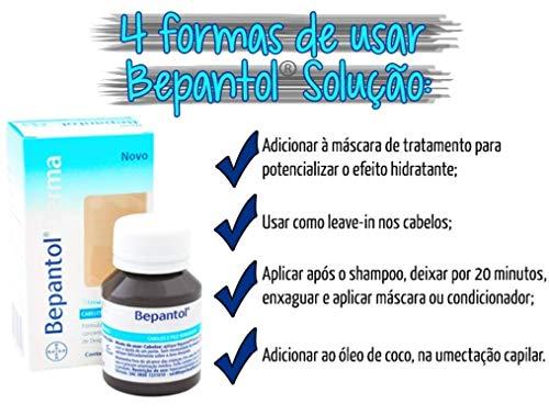 Solución líquida para el cabello de 50 ml de BepanthenVitamina B5 de Bayer Bepanthen.Cuidado del cabello dañado.Champú.