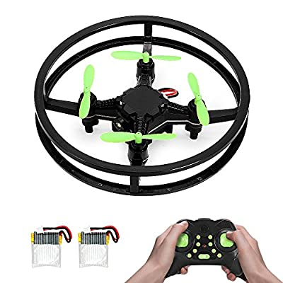 RC Nano Drone, MAKETHEONE Super-F Mini Racing Drone 4CH 2.4GHz 6-Axis Remote Control Quadcopter Helicopter RTF with Headless Mode Flash LED