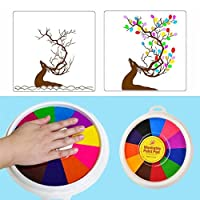 Funny Finger Painting Kit Finger Drawing Toys Educational Tool Kit Mud Painting Kids Early Learning Toy Finger Paints Non Toxic Washable Kit(24cm/12colors) (18CM/6 colors)