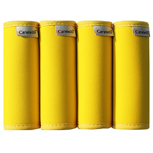 Careteilly Neoprene Luggage Handle Wrap Fluorescent Colors Luggage Identifiers (Yellow)
