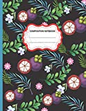 Composition Notebook: Cute Purple Mangosteen and Leaves College Ruled Composition Notebook for Writing Notes... for Girls, Kids, School, Students and ... Composition Notebook For Girls And Boys