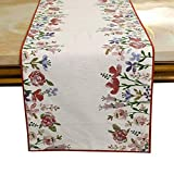 Fabric :: Cotton For a more minimal look, use both a runner and coordinating tablecloth with just a few decorations. To keep things interesting, it is important to choose a table runner in a contrasting color or pattern than the table cloth itself, s...