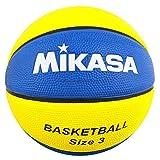 ミカサ(MIKASA) バスケットボール 3号(ジュニア・キッズ向け)ゴム イエロー/ブルー B3JMR-YBL