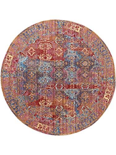 benuta Visconti Rug Multi-Coloured Diameter 120 cm Round