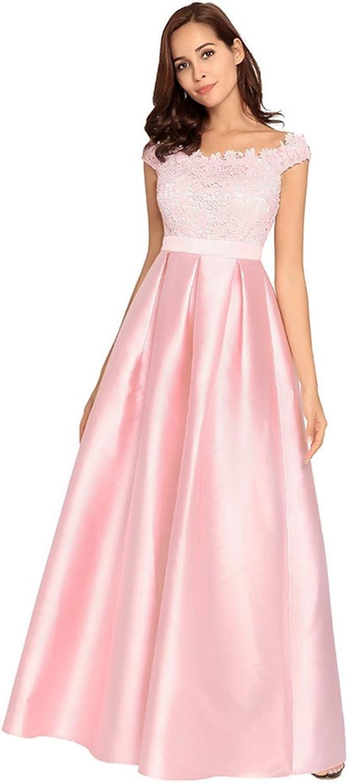 Dreagel Women's Lace Evening Dresses Long Aline Off Shoulder Formal Party Gowns