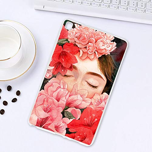 ghn Tablet Case Case For Samsung Galaxy Tab A 8.0 2019 Case SM-T290 SM-T295 8.0 inch Soft Painted Cartoon Silicone Tablet Protective Covers Tablet Accessories (Color : P087)