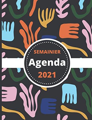 Agenda Semainier 2021: Janvier à Décembre - Professionnel et Particulier - 12 mois Journalier, une Semaine sur Deux Pages - Plage Horaire 7h-21h30 pour Prise de Rendez-vous - Grand format A4, Abstrait