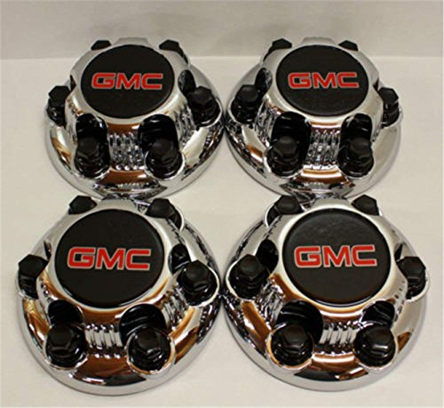 "REPLACEMENT PART: Set of 4 Chrome GMC Sierra Yukon Savana 6 Lug 1500 Center Caps 16"" 17"" Wheels"