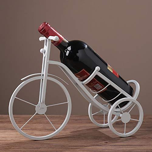 YYIFAN Soporte para Botella de Vino Estante para Vino Escultura de Metal Artesanía Decoración de Cocina Esculturas y Decoraciones de Barra Rústicas o Regalos Clásicos,White